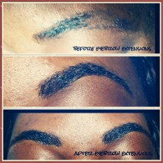 eyebrow extensions by Luxx Lash